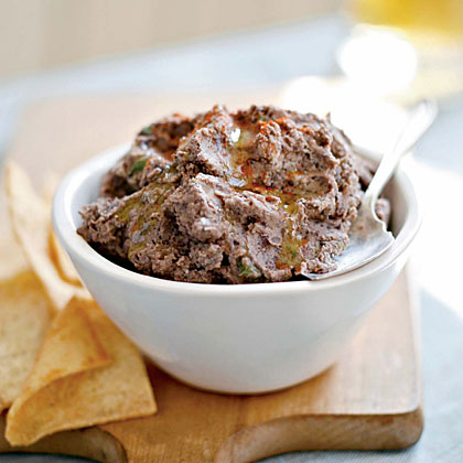 Spicy Black Bean Hummus RecipeBlack beans are packed with nutrients such as protein, fiber, and iron, so you don't have to worry about empty calories when you dip into this spicy hummus. Serve with baked pita chips or carrot and celery sticks.