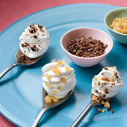 Whipped Topping Dollops On Spoons Recipe Myrecipes