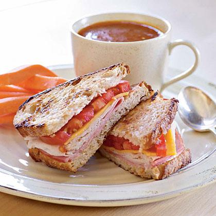 Grilled Turkey and Ham Sandwiches