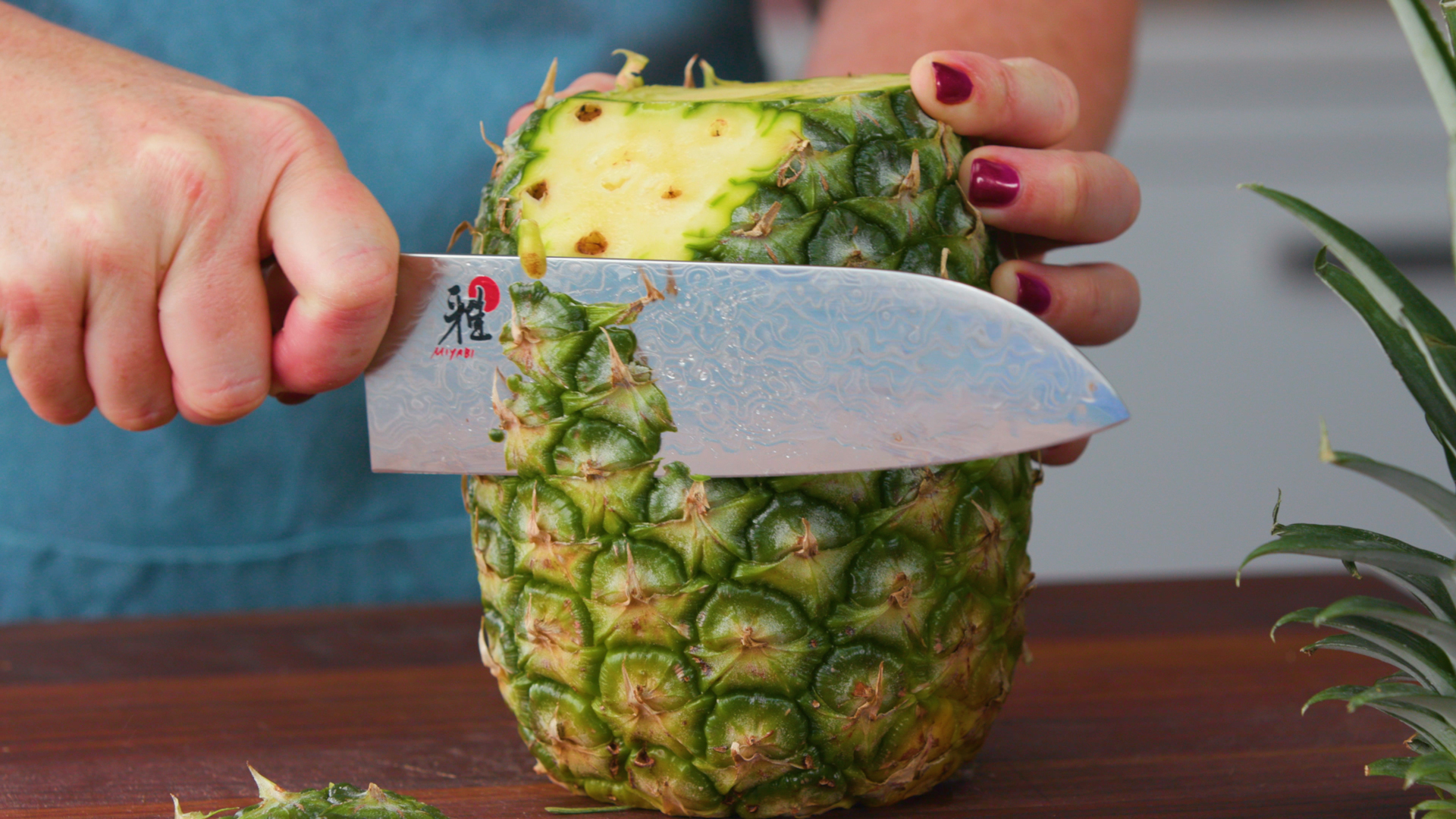 Peeling and Cutting a Pineapple