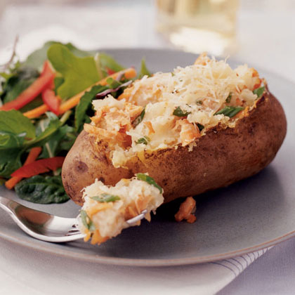 Twice-Baked Salmon Potatoes Recipe
