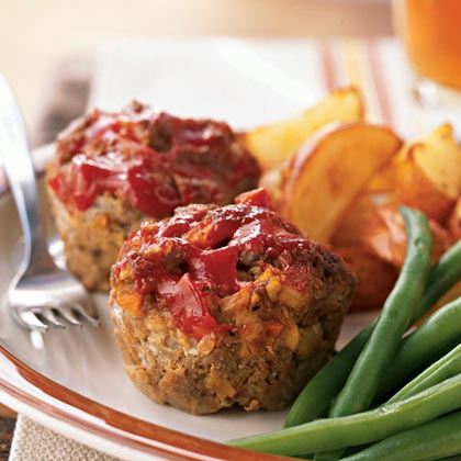 Diner Meat Loaf 'Muffins' Recipe | MyRecipes.com