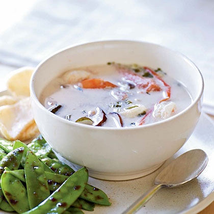 Thai Hot and Sour Soup with Shrimp