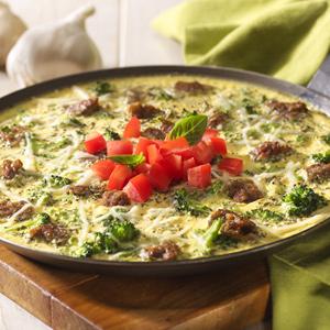 Baked Asiago Frittata
