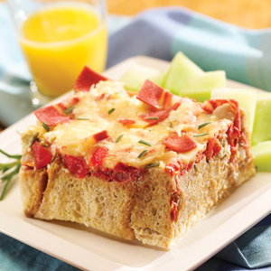 Strata with Breakfast Strips