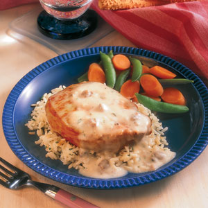 Creamy Ranch Pork Chops Rice