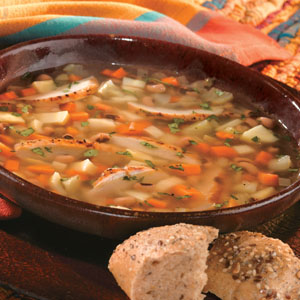 Fall Vegetable Soup Black Eyed Peas Grilled Chicken
