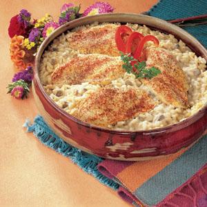 One Dish Chicken Rice Bake