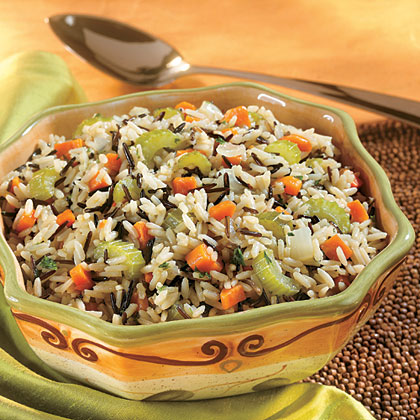 white wild rice pilaf recipe myrecipes