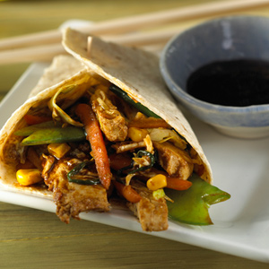 Easy Moo Shu Vegetable Wrap