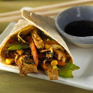 Easy Moo Shu Vegetable Wrap
