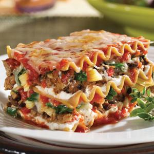 Mushroom Spinach Artichoke Lasagna