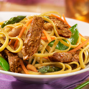 Spicy Thai Veggie Steak Noodles