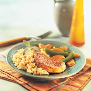 Quick Glazed Pork Rice Skillet Recipe
