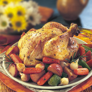 Rosemary Chicken Roasted Vegetables Recipe