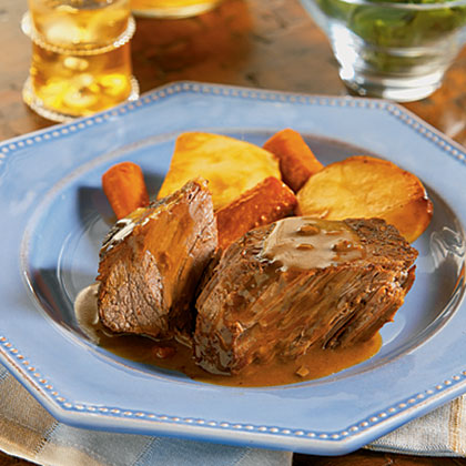 Slow Cooker Savory Pot Roast Recipe Myrecipes Com