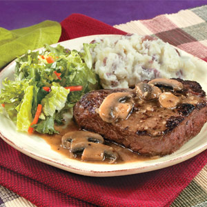 Swanson Pan Seared Steaks Mushroom Gravy