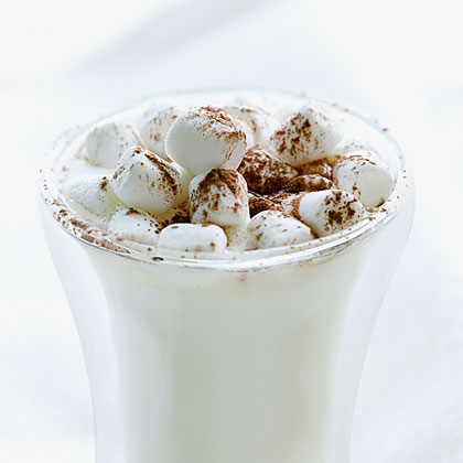 Hot White Chocolate RecipeWhite chocolate chips, marshmallows, and vanilla vodka are the stars of this adult-only hot chocolate that's like a dessert in a cup.