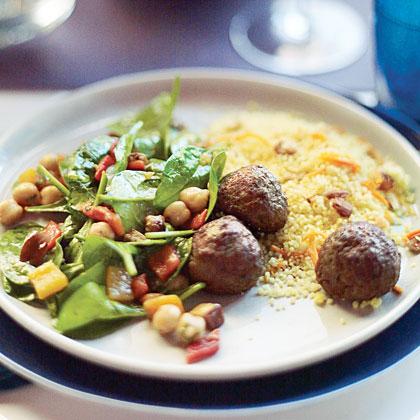 Moroccan Spiced Lamb MeatballsRecipe
