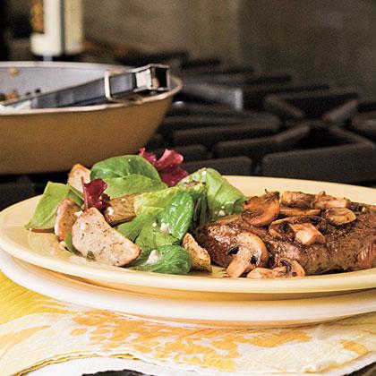 Steak Balsamico With Mushrooms