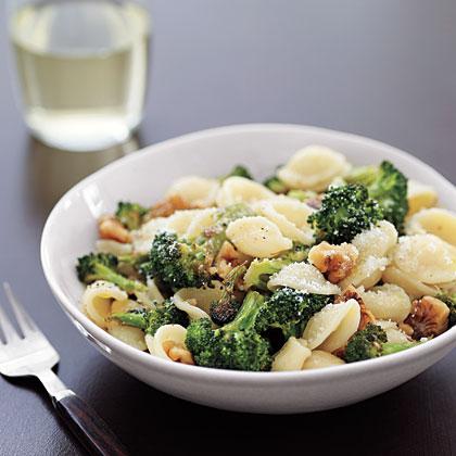 Orecchiette with Roasted Broccoli and WalnutsRecipe
