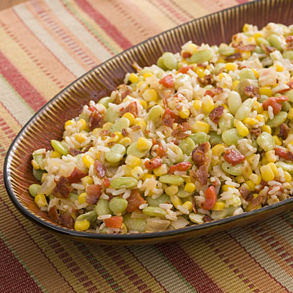 Southern Succotash With Rice Recipe