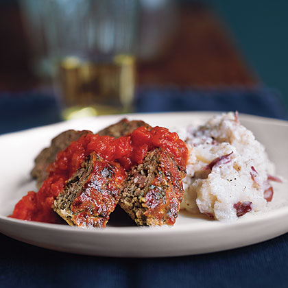 Turkey Meat Loaf with Mashed Potatoes