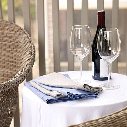 Table with Wine Glasses