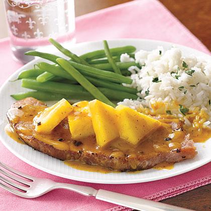 Ham Steak with Pineapple