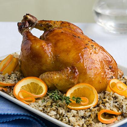 Roast Chicken With Citrus Wild Rice