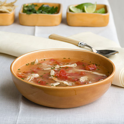 Tex-Mex Chicken-and-Rice Soup Recipe