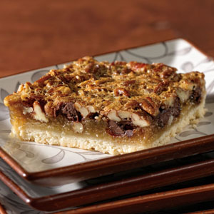 Lite Chocolate Pecan Pie Bar Recipe