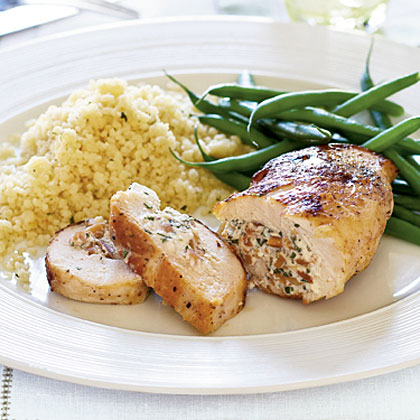 Almond-Stuffed Chicken Recipe | MyRecipes