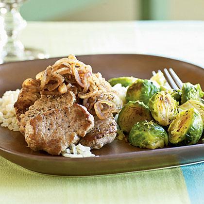Balsamic Pork with Shallots