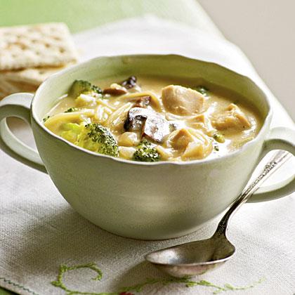 Broccoli Chicken Noodle Soup