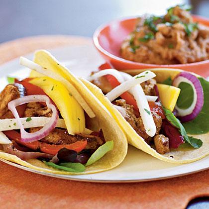Fiesta Chicken Tacos with Mango and Jicama Salad