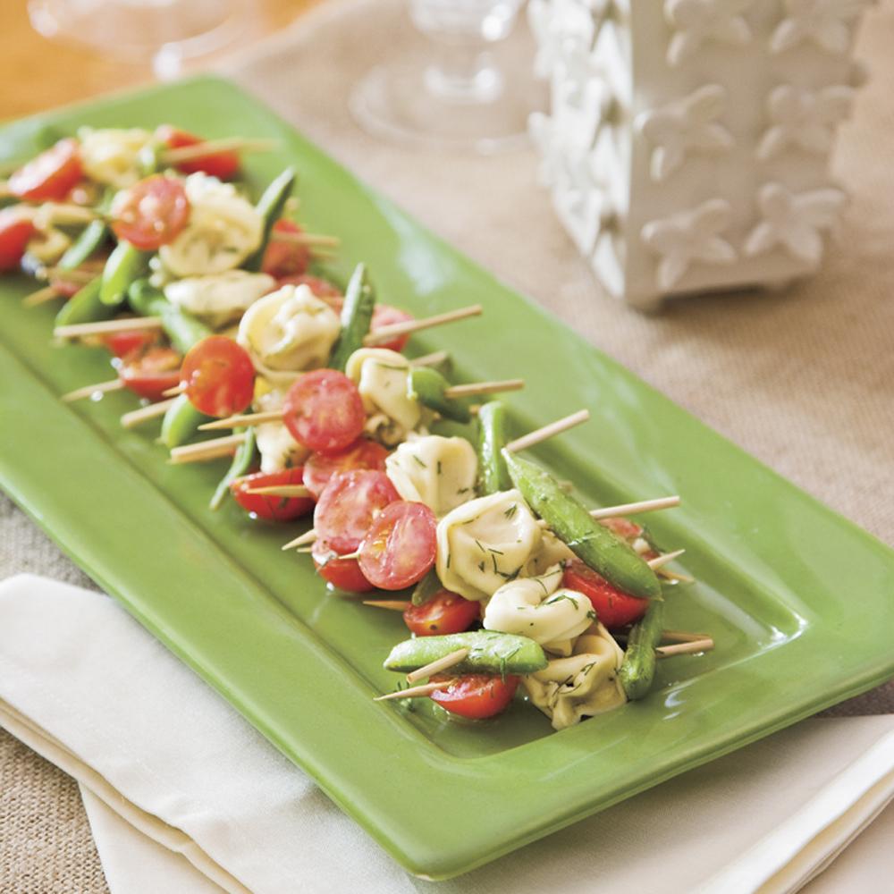Mustard-Dill Tortellini Salad SkewersRecipe