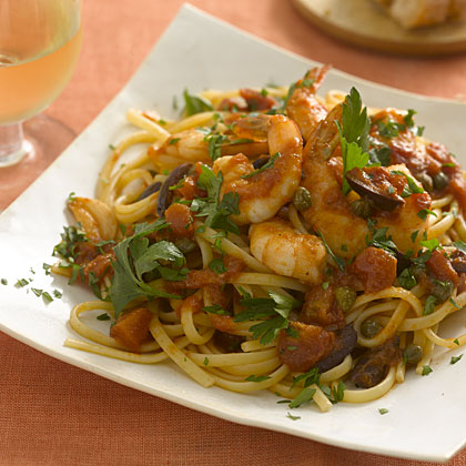 linguine-shrimp-tomatoes Recipe