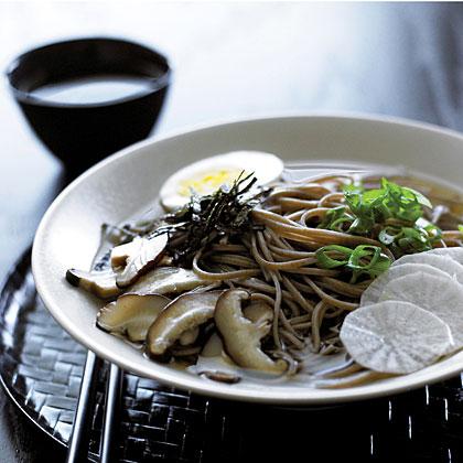 Warm Soba Noodle Bowl