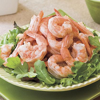 Spicy Boiled Shrimp With Creamy Buttermilk-Avocado Sauce Recipe