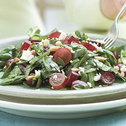 Spinach-Grape Chopped Salad