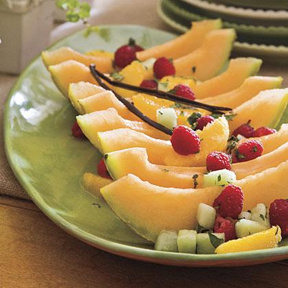Vanilla-Champagne Soaked Fruit