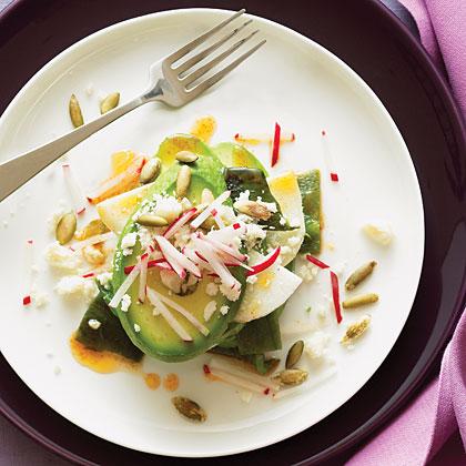 Spicy Avocado Poblano Salad