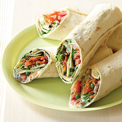 Here's a simple yet satisfying way to get more vegetables into your day. Feel free to experiment, changing up the vegetables you use based on what's in season, as well as the bread. Tortillas make good wraps, and the fillings are excellent in pita bread.Mediterranean Garden Wraps Recipe