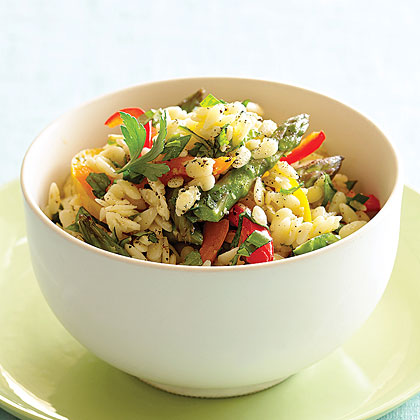 Orzo with Peppers and Asparagus