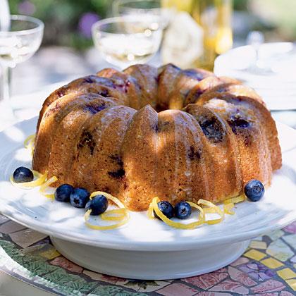 Glazed Lemon-Blueberry Poppy Seed Bundt Cake