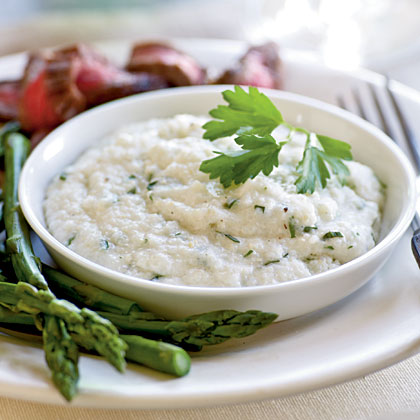 The addition of goat cheese makes this traditional Southern side dish smooth and satisfying.Goat Cheese Grits Recipe