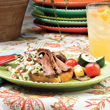 Flank Steak With Radish Salsa