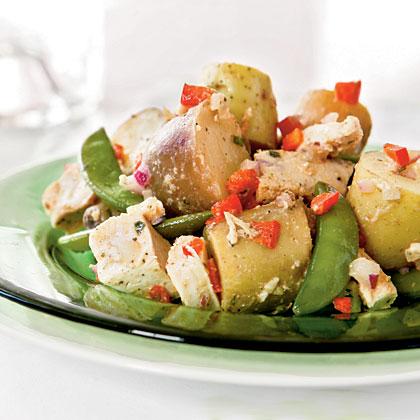 Potato, Chicken, and Fresh Pea Salad Recipe