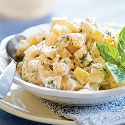 Warm Potato and Goat Cheese Salad